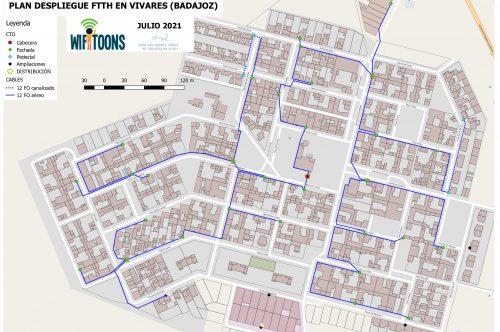 La empresa WifiToons presenta un plan de despliegue de fibra óptica para Vivares